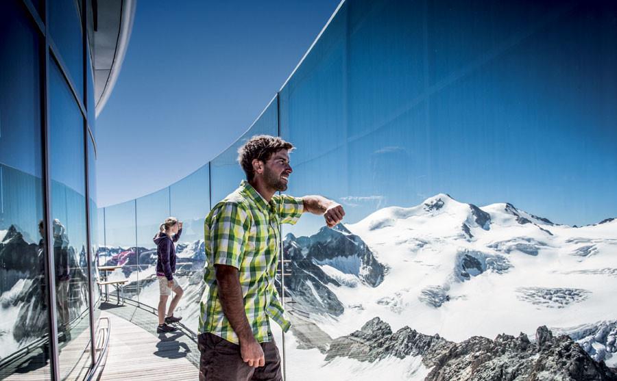 Gletschercafe auf 3340 m