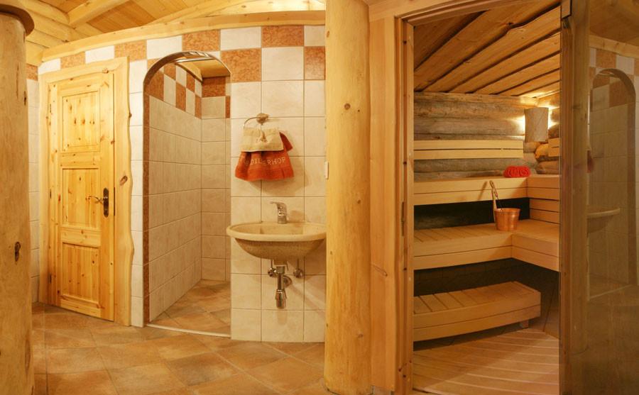 Sauna in der Erlebnishütte