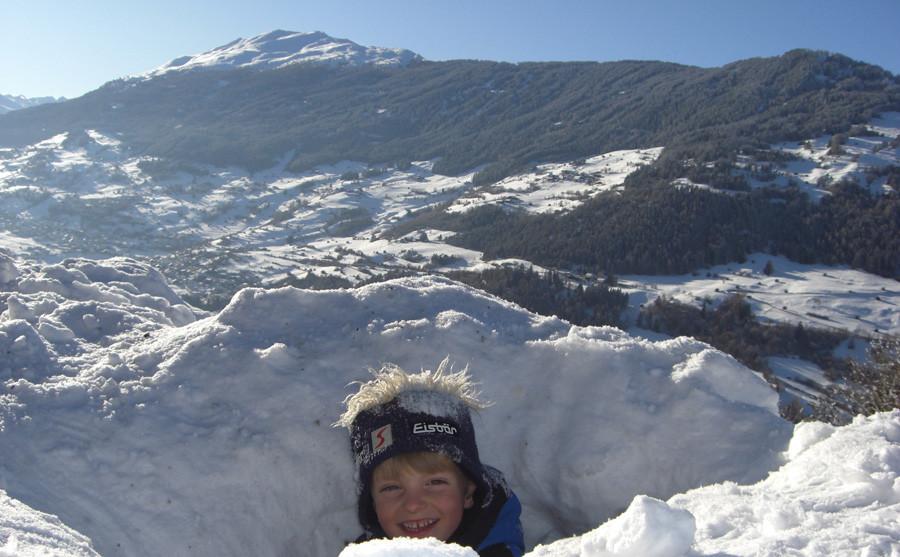 Schneehöhlen bauen