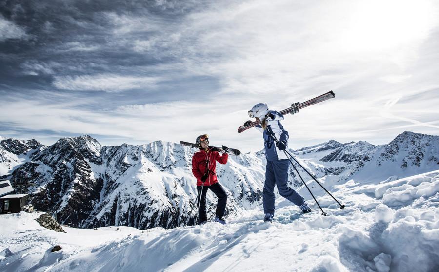 Skifahren am Dach Tirols