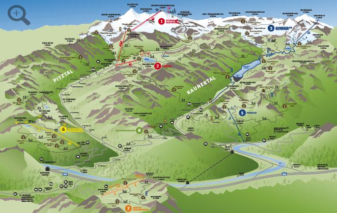 Karte Pitztal Erlebnisbauernhöfe